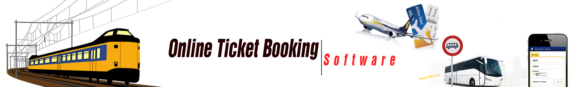 Online Ticket Booking Software in Chennai | Mobile Ticket Booking Software Development company in Chennai - cwd.co.in