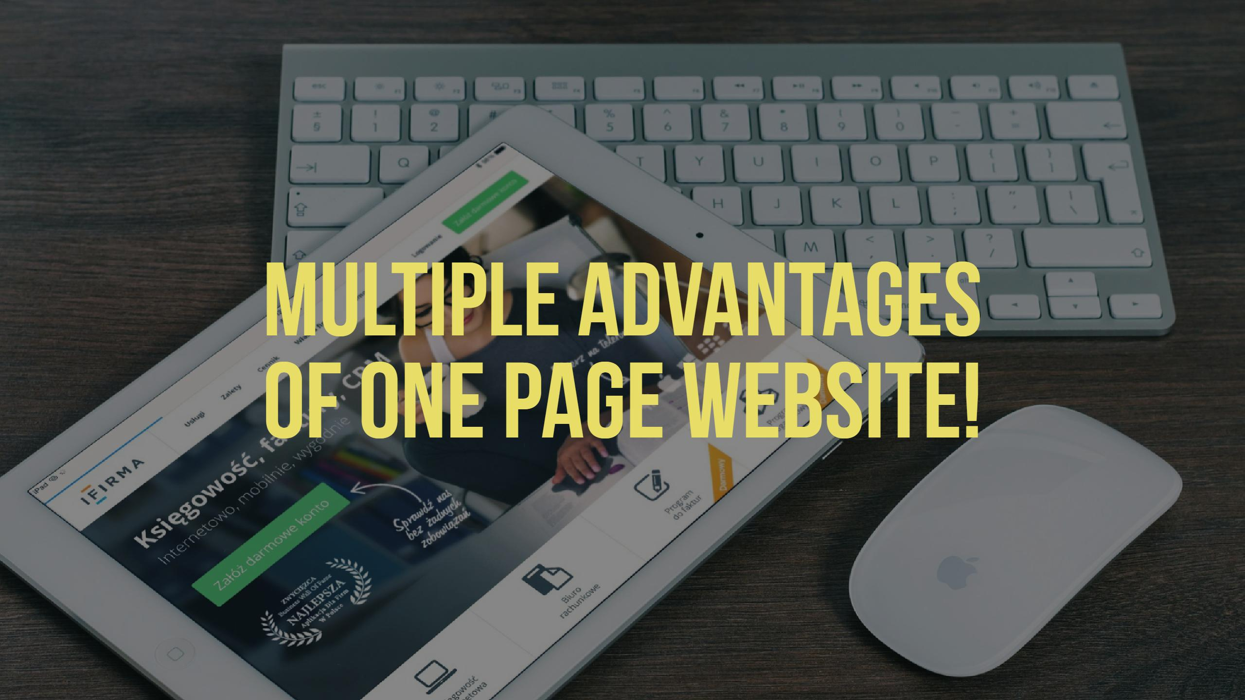 Multiple Advantages of One Page Website
